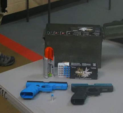 The BATFE considers both of the actual firearms… yet, the on the left is DESIGNED and BUILT to be pointed at people in training and the one on the right has been appropriately converted to that purpose as well. The ammunition behind the guns is designed to shot at people in scenarios. To say that using them is inherently violating Firearms Safety rules is ignorant.