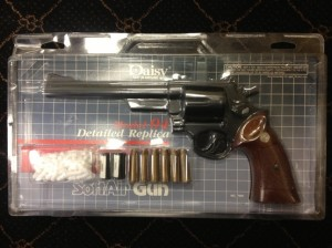 The 1980's Daisy Replica of a S&W Model 19 Revolver... a 1:1 model in look and operation.